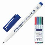 """Маркеры для доски STAEDTLER (Германия) """"Lumocolor"""", набор 4 штуки, круглые, 1 мм, (черный, синий, красный, зеленый), 301 WP4"""