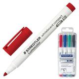 """Маркеры для доски STAEDTLER (Германия) """"Lumocolor"""", набор 4 штуки, круглые, 1-2 мм, (черный, синий, красный, зеленый), 341 WP4"""