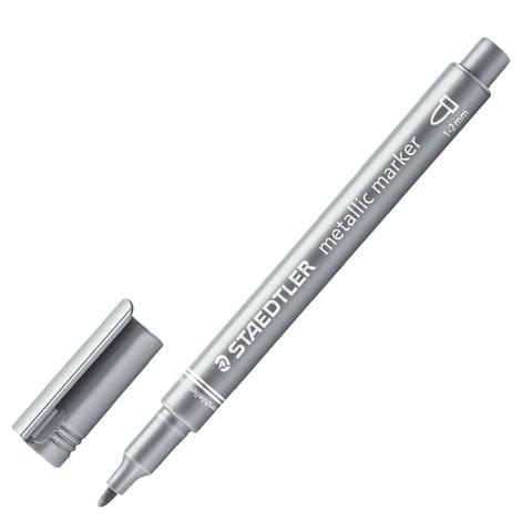 Анонс-изображение товара маркер декоративный staedtler (штедлер,германия), круглый наконечник,2мм,серебряный металлик,8323-81