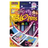 """Фломастеры воздушные CENTROPEN """"Blopens Magic"""", 5 + 1 цвет + 8 трафаретов, европодвес, 1549/5+1"""