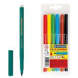 """Фломастеры CENTROPEN """"Color World"""", 6 цветов, эргономичная форма, смываемые, вентилируемый колпачок, 7550/06TP"""