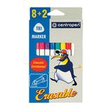 """Фломастеры CENTROPEN """"Erasable"""", 8 цветов +2 стирающих, ширина линии 1,8 мм, стираемые, 2569/10"""