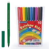 """Фломастеры CENTROPEN """"Rainbow Kids"""", 10 цветов, смываемые, эргономичные, вентилируемый колпачок, 7550/10"""