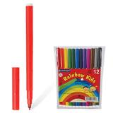 """Фломастеры CENTROPEN """"Rainbow Kids"""", 12 цветов, смываемые, эргономичные, вентилируемый колпачок, 7550/12"""