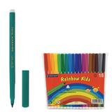"""Фломастеры CENTROPEN """"Rainbow Kids"""", 18 цветов, смываемые, эргономичные, вентилируемый колпачок, 7550/18"""