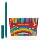 """Фломастеры CENTROPEN """"Rainbow Kids"""", 24 цвета, смываемые, эргономичные, вентилируемый колпачок, 7550/24"""