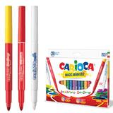 """Фломастеры CARIOCA (Италия) """"Magic"""", 20 штук, 18 цветов + 1 изменяющий цвет + 1 стирающий, картонная коробка, 41369"""