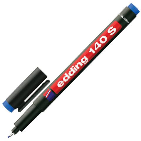 Маркер перманентный для любой гладкой поверхности EDDING 140, СИНИЙ, 0,3 мм, металлический наконечник, E-140/3