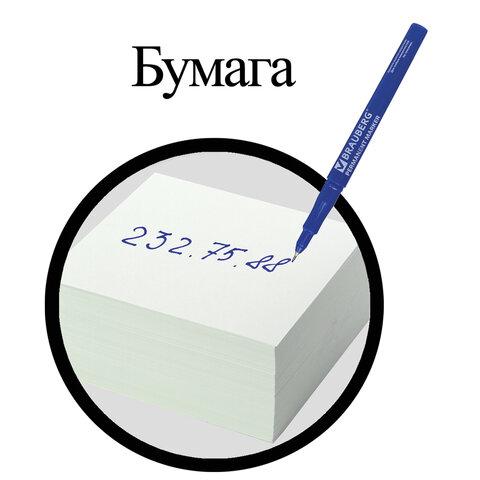 Маркер перманентный BRAUBERG, СИНИЙ, тонкий металлический наконечник, 151633