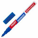 Маркер-краска лаковый EXTRA (paint marker) 2 мм, СИНИЙ, УЛУЧШЕННАЯ НИТРО-ОСНОВА, BRAUBERG, 151970