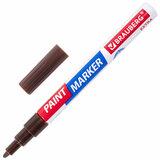 Маркер-краска лаковый EXTRA (paint marker) 2 мм, КОРИЧНЕВЫЙ, УЛУЧШЕННАЯ НИТРО-ОСНОВА, BRAUBERG, 151975