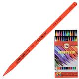 """Карандаши цветные художественные KOH-I-NOOR """"Progresso"""", 24 цвета, 7,1 мм, в лаке, без дерева, заточенные, 8758024007PZ"""