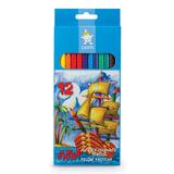 Карандаши цветные KOH-I-NOOR, 12 цветов, грифель 2,8 мм, пластиковые, заточенные, европодвес, 2162012004KS