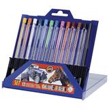 Карандаши цветные KOH-I-NOOR, 12 цветов, грифель 3,2 мм, выдвижной пластиковый корпус, точилка, пластиковая коробка, 4012012001PK