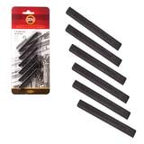 Уголь прессованный KOH-I-NOOR, набор 6 шт., квадратное сечение, 3 градации твердости, 8683123001BL