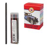 Грифели цветные запасные KOH-I-NOOR, НАБОР 12 штук, для механических карандашей 4012/12, 4042012004PK