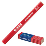 Карандаш столярный STAEDTLER (Германия), 1 шт., 2H, грифель 5х2 мм, длина 175 мм, корпус красный, 148 40