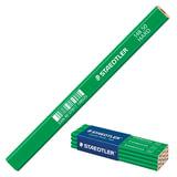 Карандаш столярный STAEDTLER (Германия), 1 шт., 6H, грифель 5х2 мм, длина 175 мм, корпус зеленый, 148 50