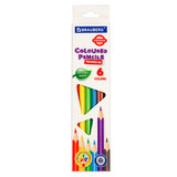 Карандаши цветные BRAUBERG PREMIUM, 6 цветов, трехгранные, грифель мягкий 3,3 мм, 181650