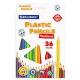 Карандаши цветные пластиковые BRAUBERG PREMIUM, 36 цветов, трехгранные, грифель мягкий 3 мм, 181664