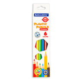 Карандаши цветные пластиковые BRAUBERG PREMIUM, 6 цветов, шестигранные, грифель мягкий 3 мм, 181665