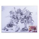"Холст на картоне с контуром BRAUBERG ART ""CLASSIC"", ""Цветы"", 30х40 см, грунтованный, 100% хлопок, 190625"
