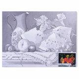 "Холст на картоне с контуром BRAUBERG ART ""CLASSIC"", ""Натюрморт"", 30х40 см, грунтованный, 100% хлопок, 190626"