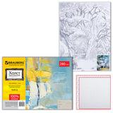 "Холст на картоне с контуром BRAUBERG ART ""CLASSIC"", ""Пейзаж"", 30х40 см, грунтованный, 100% хлопок, 190632"