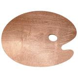 """Палитра для рисования """"Сонет"""", деревянная, овальная, 30х40 см, толщина 5 мм, DK18423"""