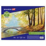 Холст на картоне BRAUBERG ART CLASSIC, 35*45см, грунтованный, 100% хлопок, мелкое зерно, 191020