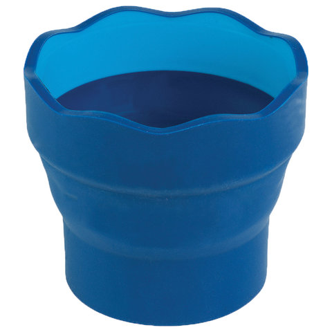 """Стакан для воды FABER-CASTELL """"Clic&Go"""", складной, пластиковый, синий, 181510"""