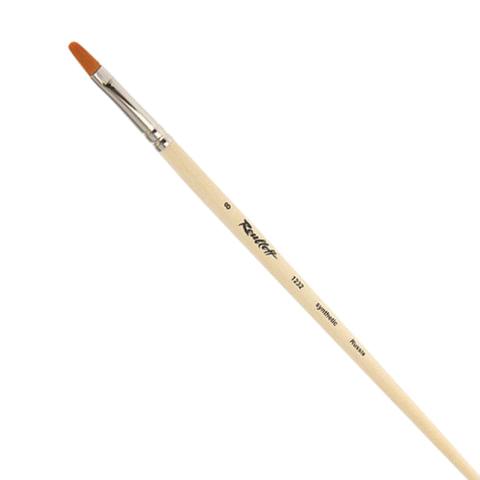 Кисть художественная ROUBLOFF (Рублев), синтетика, жесткая, овальная, № 8, длинная ручка, ЖС3-08,02Ж
