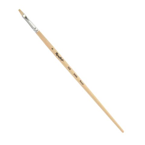 Кисть художественная ROUBLOFF (Рублев) щетина, овальная, № 6, длинная ручка, ЖЩ3-06,02Б