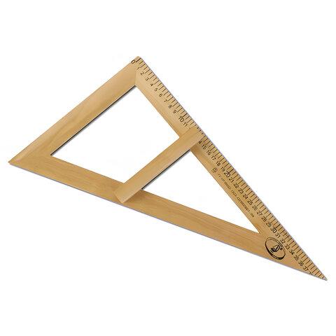 Треугольник для классной доски деревянный, 60х30х40 см, прямоугольный, С364