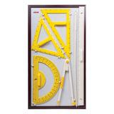 Набор чертежный для классной доски (2 треугольника, транспортир, циркуль, указка), BOARDSYS, КИК