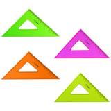 """Треугольник пластиковый, угол 45, 12 см, СТАММ """"Neon Cristal"""", тонированный, прозрачный, неоновый, ассорти, ТК44"""