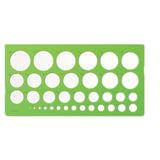 Трафарет СТАММ окружностей, 36 элементов диаметром от 1 до 36 мм, зеленого цвета, ТТ21