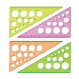 """Треугольник пластиковый, угол 30, 19 см, СТАММ """"Neon Cristal"""", тонированный, прозрачный, неоновый, ассорти, ТК11"""
