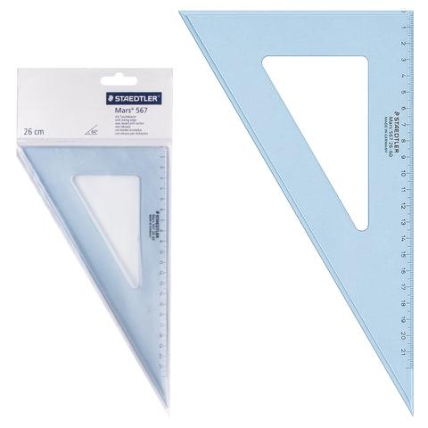 """Треугольник пластиковый, угол 30, 26 см, STAEDTLER (Германия) """"Mars"""", прозрачный, 567 26-60"""