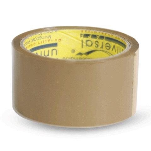 Клейкая лента 48 мм х 40 м, потребительская, UNIVERSAL, коричневая, 50//66 кор
