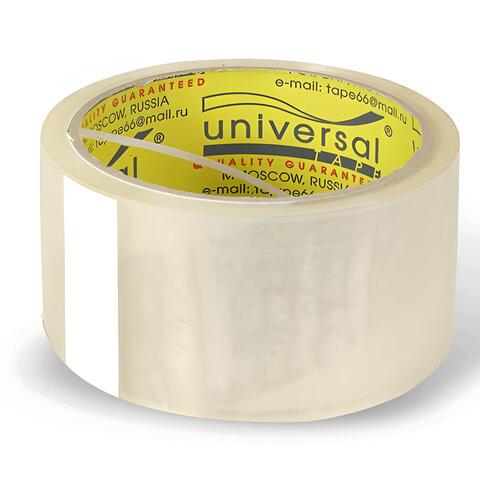 Клейкая лента упаковочная, 48 мм х 40 м, прозрачная, толщина 38 микрон, UNIVERSAL, 50//66 пр