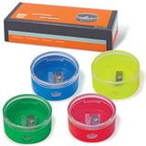 Точилка EISEN (АЙЗЕН, Германия), с контейнером, круглая, 4 цвета, 420, 419