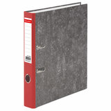 Папка-регистратор BRAUBERG, фактура стандарт, с мраморным покрытием, 50 мм, красный корешок, 220983