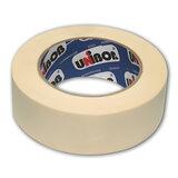 Клейкая лента малярная креппированная 38 мм х 50 м (реальная длина!), профессиональная, UNIBOB 28138