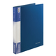 Папка на 2 кольцах BRAUBERG, стандарт, 25 мм, синяя, до 120 листов, 0,8 мм, 221615