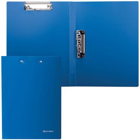 Папка с 2 мет.приж. BRAUBERG Стандарт, синяя, до 100 листов, 0,6мм, 221625