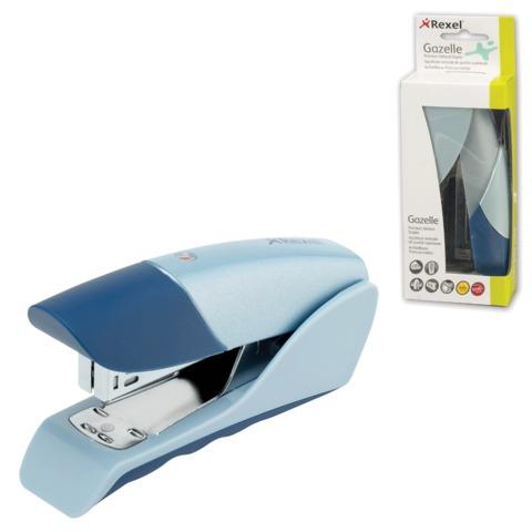 """Степлер REXEL, №24/6, металлический, """"Gazelle"""", 25 л., серебристо-синий (ACCO Brands, США), 2100011"""