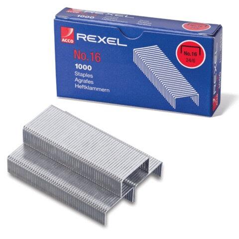 Скобы для степлера REXEL № 24/6, 1000шт., арт. R06121 (ACCO Brands, США)