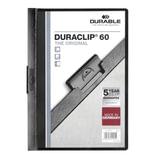 """Папка с клипом DURABLE (Германия), до 60 листов, """"Duraclip Original"""", черная, 2209-01"""