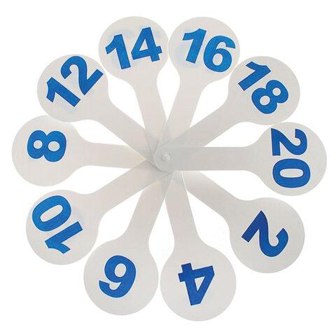 Веер-касса (цифры от 1 до 20), ПЧЕЛКА, европодвес, Ц-01